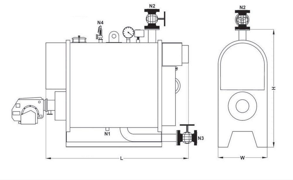 نقشه دیگ آب گرم فایرباکس